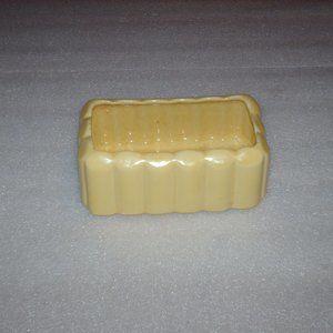 Vintage yellow McCoy pottery planter
